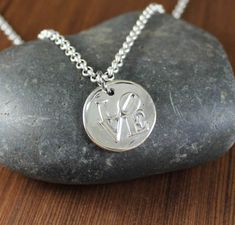 LOVE  Artisan Handcrafted  pendant necklace by KLFStudio on Etsy