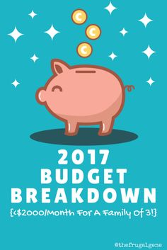 #budgetbreakdown, family of 3, monthly budget, the frugal gene, family budgeting, budget breakdown 2017