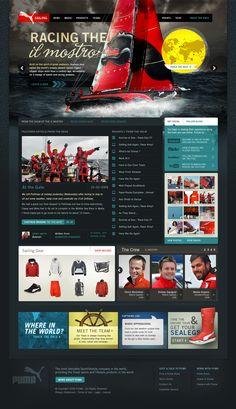 PUMA Sailing - Owen Shifflett : Design, Illustration, & Art Direction #webdesign