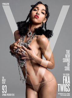 FKA Twigs on the cover of V Magazine.