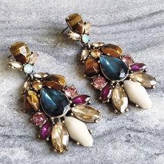 Statement Earrings Perfect for gifting. Hypoallergenic, lead and nickel free. *Matching necklace available in another listing. Ocean Jewelers Jewelry