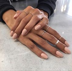 """If you're unfamiliar with nail trends and you hear the words """"coffin nails,"""" what comes to mind? It's not nails with coffins drawn on them. Although, that would be a cute look for Halloween. It's long nails with a square tip, and the look has. Nail Polish, Gel Nails, Nails Inc, Pink Nails, Coffin Nails, Gel Nagel Design, Nagel Gel, Perfect Nails, Short Nails"""