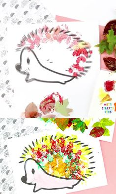 Hedgehog Fall Leaf Craft – A simple and fun fall craft for preschoolers and children in early years education. Easy Preschool Crafts, Fall Crafts For Toddlers, Easy Art For Kids, Easy Fall Crafts, Animal Crafts For Kids, Autumn Art Ideas For Kids, Fox Crafts, Leaf Crafts, Autumn Leaves Craft