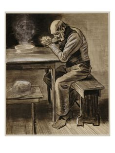 Vincent Van Gogh - The Prayer Art Print. Explore our collection of Vincent Van Gogh fine art prints, giclees, posters and hand crafted canvas products Vincent Van Gogh, Van Gogh Drawings, Van Gogh Paintings, Van Gogh Art, Art Van, Paul Gauguin, Dutch Artists, Famous Artists, Rembrandt
