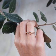 14kt gold and diamond Lusia ring – Luna Skye by Samantha Conn