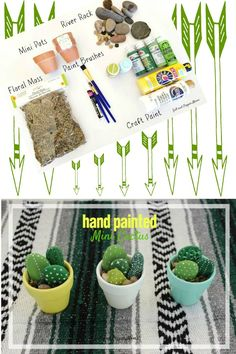 This is a perfect DIY for you and your little ones ~ make some of these cute hand-painted mini cacti to keep for yourself or to give as gifts.