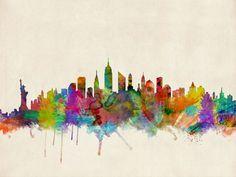 Horizonte de Nueva York City lienzo de la lámina por ArtPause | Society6
