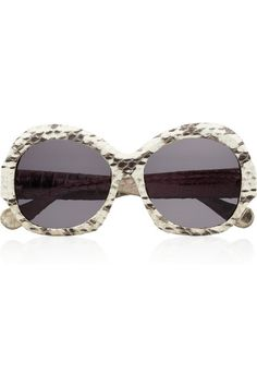 House of Harlow Rachel round-frame snake-effect acetate sunglasses #Weekend