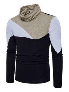 Suéter de pullover para hombre Multicolor Collar de manga larga regular Fit  Cotton Sweater