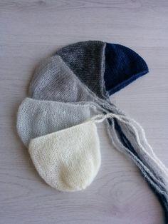 Newborn mohair bonnet Newborn knit bonnet by MoonlightLittleKnits
