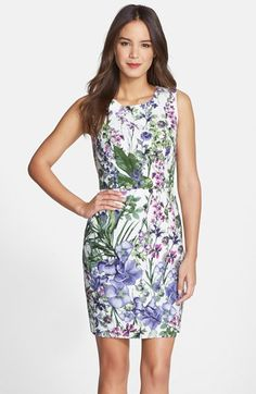 Gabby Skye Floral Jacquard Sheath Dress available at #Nordstrom