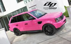 Pink Range Rover......just doesn't look as hot as the sports car!