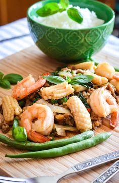Spicy Basil Seafood (Pad Ka-prao Talay)
