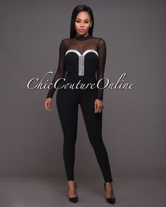Chic Couture Online - Hera Black Rhinestones Embellished Mesh Jumpsuit.(http://www.chiccoutureonline.com/hera-black-rhinestones-embellished-mesh-jumpsuit/)