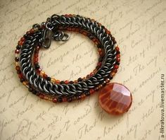 red, black, chainmaille