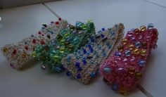 Quick One Hour Crochet Beaded Bracelet