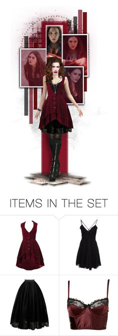 """""""Scarlet Witch // Marvel Party"""" by thestars-themoon ❤ liked on Polyvore featuring art, Avengers, marvel and scarletwitch"""
