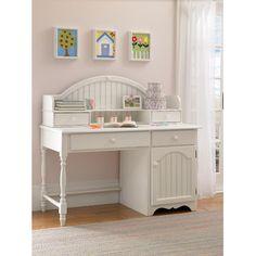"Hillsdale Furniture Westfield 53.25"" W Writing Desk White Bedroom Set, Bedroom Sets, White Desks, Family Furniture, White Furniture, Desk Hutch, Home Office Desks, White Houses, Entryway Tables"