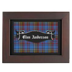 Clan Anderson Tartan Memory Box #gifts