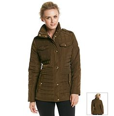 Product: MICHAEL Michael Kors Zip Front Anorak With Gold Hardware