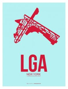 LGA New York Poster 2 by NAXART Studio - Canvas Print at NAXART.com