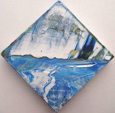 """Blue Tropics,"" original figurative painting by artist jamal dejong (Canada) available at Saatchi Art #SaatchiArt"