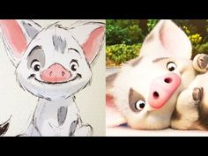 How To Draw Moana Pua Pig Step By Step Cute And Easy