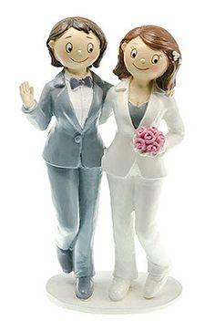 figurines couple maries filles gay style bd vous aimez lesprit des bd - Figurine Mariage Mixte