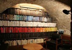 Color Organized Bookshelves.: lovely