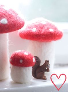I find these toadstools charming, in a weird way. @Rachel Lewis
