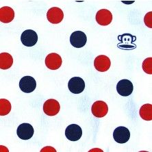 Dotty Julius Cotton Knit Fabric, Red Colorway