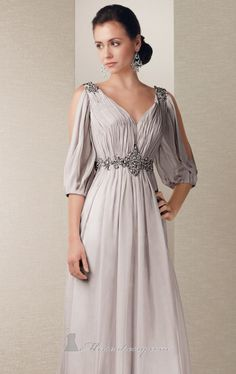 Greek goddess dress- close in the shoulders a tad