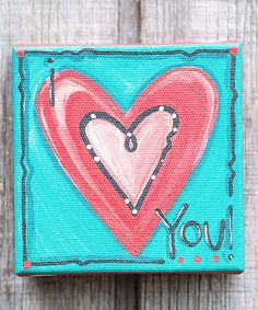 Look at this 'I Love You' Canvas on #zulily today!