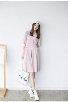 Korean Fashion - strap dress + top suit - AddOneClothing - 2