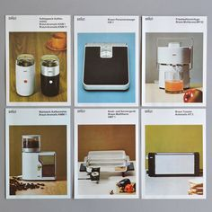 Minimalist Throw Back Design /// 60s Braun Brochures