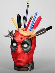 Deadpool pencil holder...