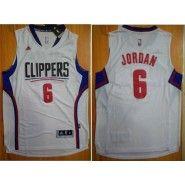 NBA Los Angeles Clippers Jersey   DeAndre Jordan  6 Revolution 30 DeAndre  Stitched Men s White Jordan Jersey 658bd9958