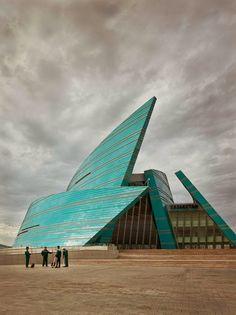 Kazakhstan Central Concert Hall, Astana, 2009, architect Manfredi Nicoletti, photo by Frank Herfort #architecture ☮k☮