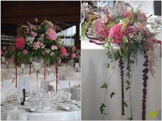 Decoración baquete en tonos rosas Mayula Flores
