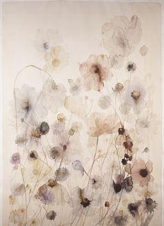 Lourdes Sanchez, anemone field #9 2014, watercolor