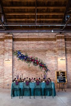 Bold colored wedding palette with gold adds a touch of glamour   Image by Emma Mullins Photography Loft Wedding Reception, Wedding Reception Decorations, Industrial Wedding Decor, Wedding Shoot, Dream Wedding, Wedding Inspiration, Wedding Ideas, Wedding Vendors, Wedding Colors
