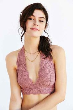 a6c90a898e Out From Under Lace Halter Bra - Urban Outfitters  20!