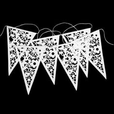lace bunting (could be made out of paper or real lace)