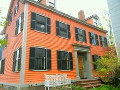 Merveilleux Exterior · Orange HouseExterior Paint ColorsHouse ...