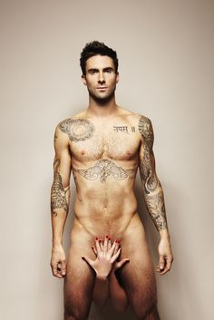 Adam Levine: Naked for Cancer Awareness!: Photo Adam Levine goes naked for a good cause! With only a pair of female hands covering up Adam's dirty bits, the Maroon 5 frontman stripped down to encourage… Maroon 5, Hot Men, Sexy Men, Hot Guys, Sexy Guys, Chris Pine, Ryan Gosling, Big Sean, Colin Farrell