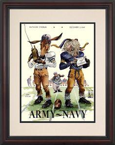 80b634e6668 1944 Army Black Knights vs Navy Midshipmen 8 1/2 x 11 Framed Historic  Football