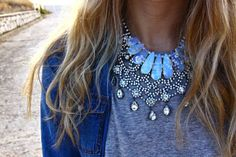 tee + necklace stacking