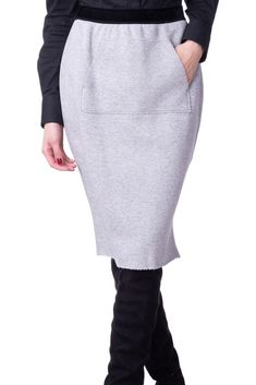CYCLE Sweat Pencil Skirt Size L Distressed Melange Effect Made in Italy RRP  179  fashion e4e859f87