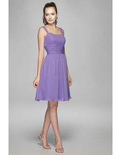 Discount Summer Custom Straps Short Chiffon Sexy Bridesmaid Dresses
