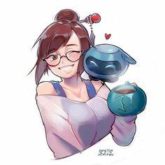 Fantasy Characters, Anime Characters, Tekken Girls, Alita Battle Angel Manga, Character Art, Character Design, Overwatch Drawings, Overwatch Wallpapers, Fanart